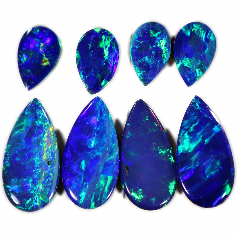 3.26 CTS GEM DOUBLET PAIRS FOR EARRINGS [SEDA1045]SAFE