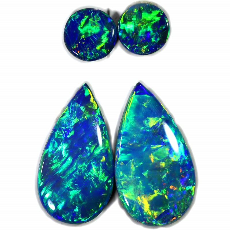 2.21 CTS GEM DOUBLET PAIRS FOR EARRINGS [SEDA1048]SAFE