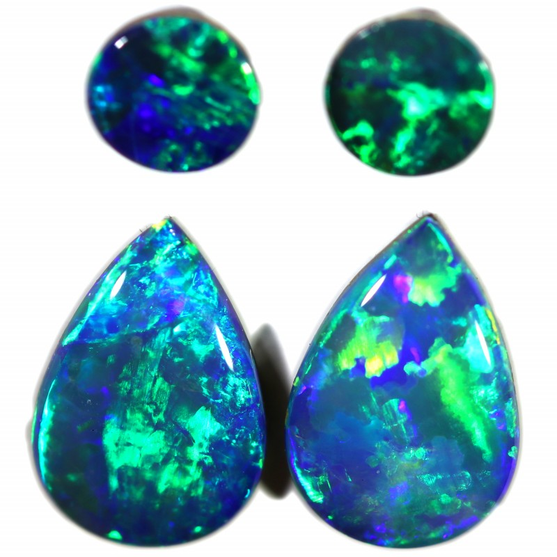 2.16 CTS GEM DOUBLET PAIRS FOR EARRINGS [SEDA1062]SAFE