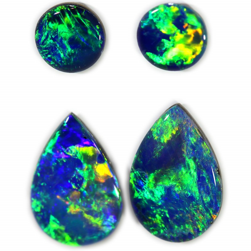 2.05 CTS GEM DOUBLET PAIRS FOR EARRINGS [SEDA1065]SAFE