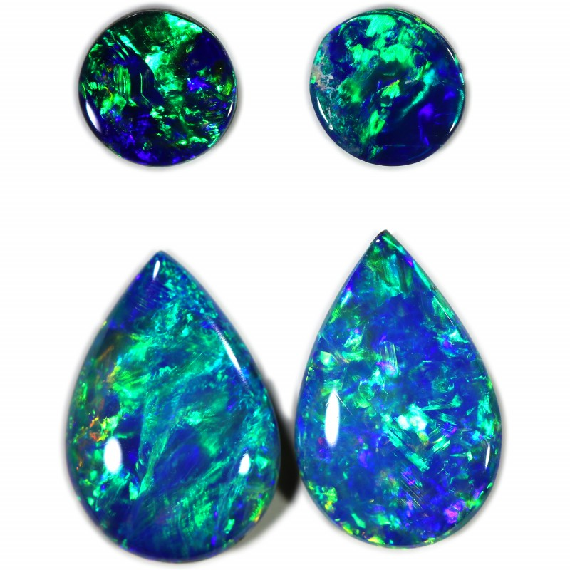 2.05 CTS GEM DOUBLET PAIRS FOR EARRINGS [SEDA1066]SAFE