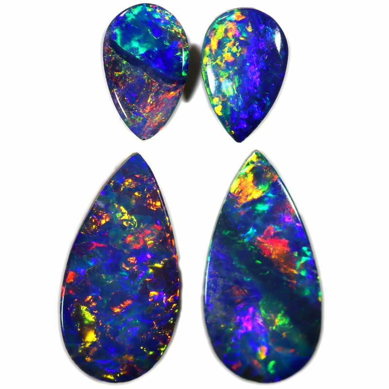 1.70 CTS GEM DOUBLET PAIRS FOR EARRINGS [SEDA1067]SAFE