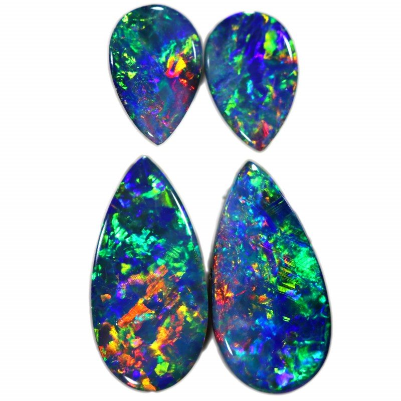 1.70 CTS GEM DOUBLET PAIRS FOR EARRINGS [SEDA1068]SAFE