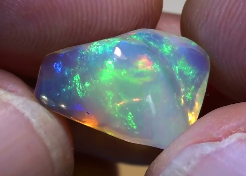 5.20 ct Ethiopian Gem Color Carved Free Form Welo Opal *