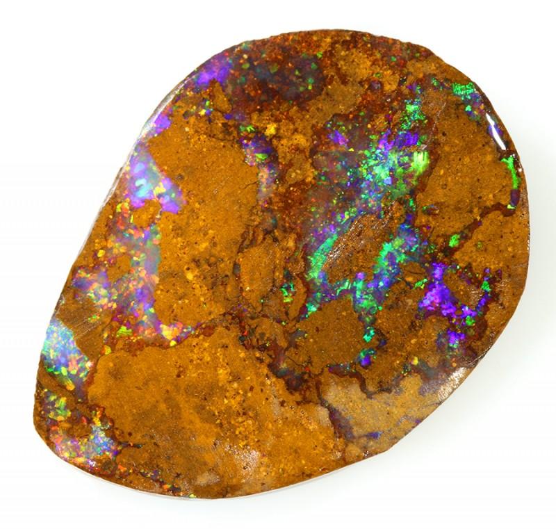 23.60CTS  Boulder Opal Rough/Rub Pre-Shaped --  S12