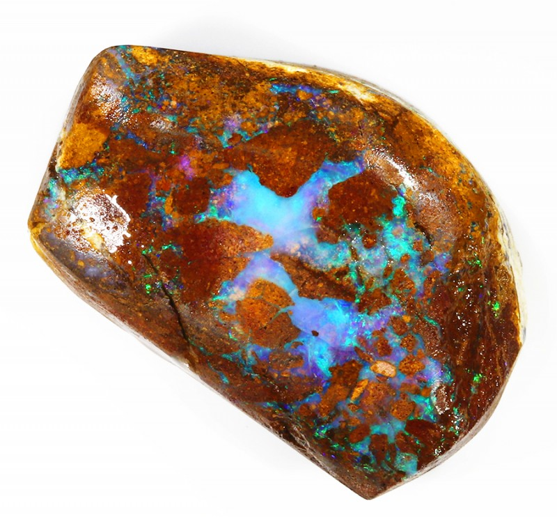 132CTS  Boulder Opal Rough/Rub Pre-Shaped --  S20
