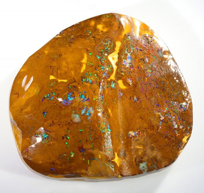 400CTS  Boulder Opal Rough/Rub Pre-Shaped --  S28