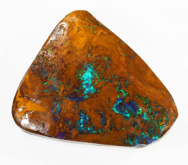 102CTS  Boulder Opal Rough/Rub Pre-Shaped --  S31