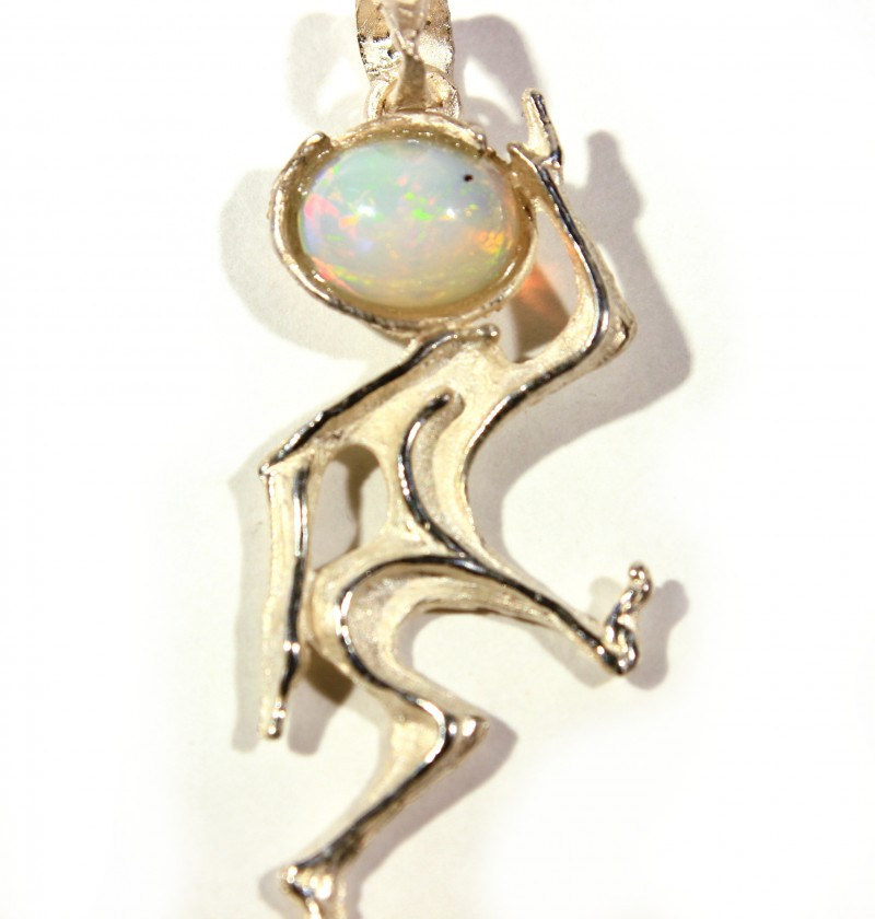 Pendant Silver 925 with Wello Opal Tot. Cts.19     CV18