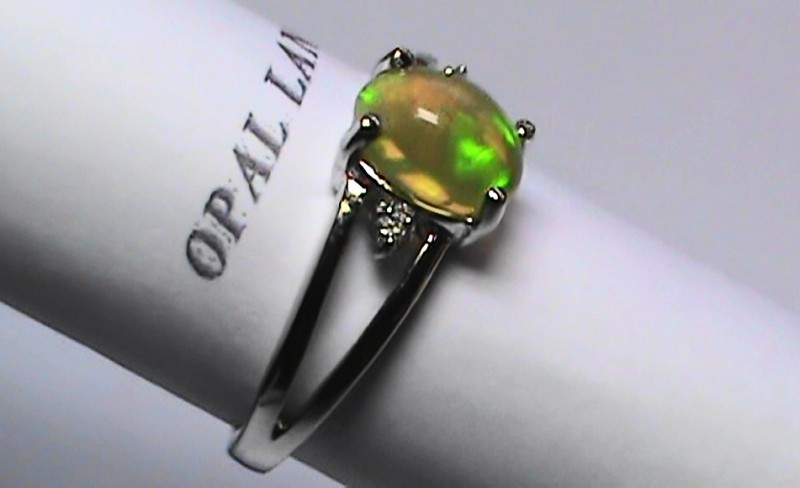 11.55 ct Stunning 925 Silver Bright Multi Color Welo Ring