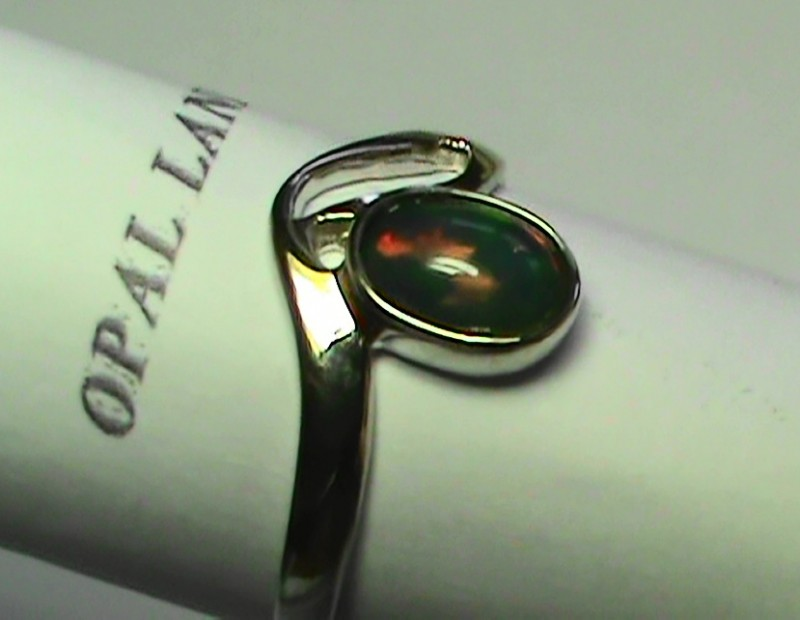 OPAL SIZE 7.5 WOMENS 925 STERLING SILVER RING