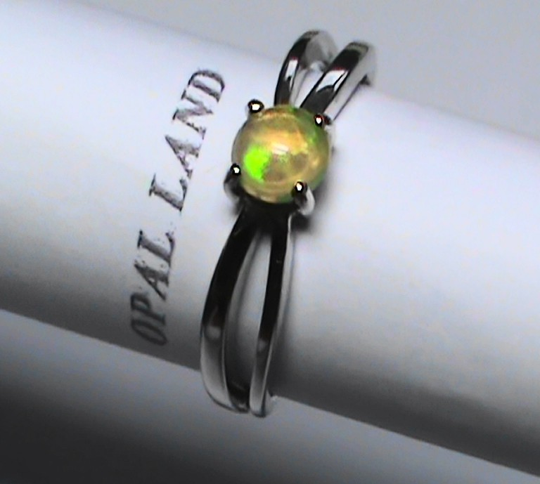 11.30 ct Stunning 925 Silver Bright Multi Color Welo Ring