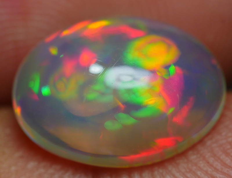 2.20 CRT DELUXE NEON FLAGSTONE FIRE CRYSTAL CLEAR WELO OPAL