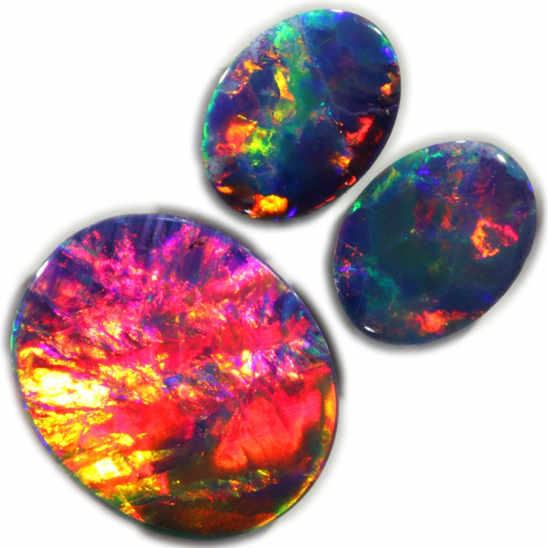 3.64 CTS GEM DOUBLET SET FOR EARRING AND PENDANT [LRO228]SAFE