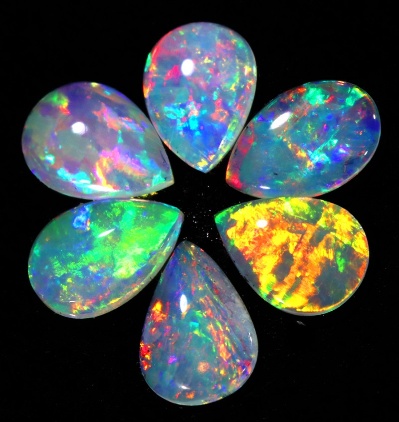 1.61CTS 6 STONES PARCEL COOBER PEDY -GREAT COLOR PLAY -S129