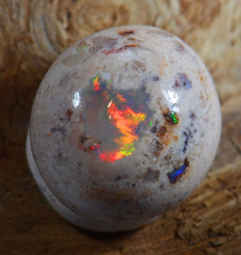 5.5ct Mexican Cantera Fire Opal Wire Wrap