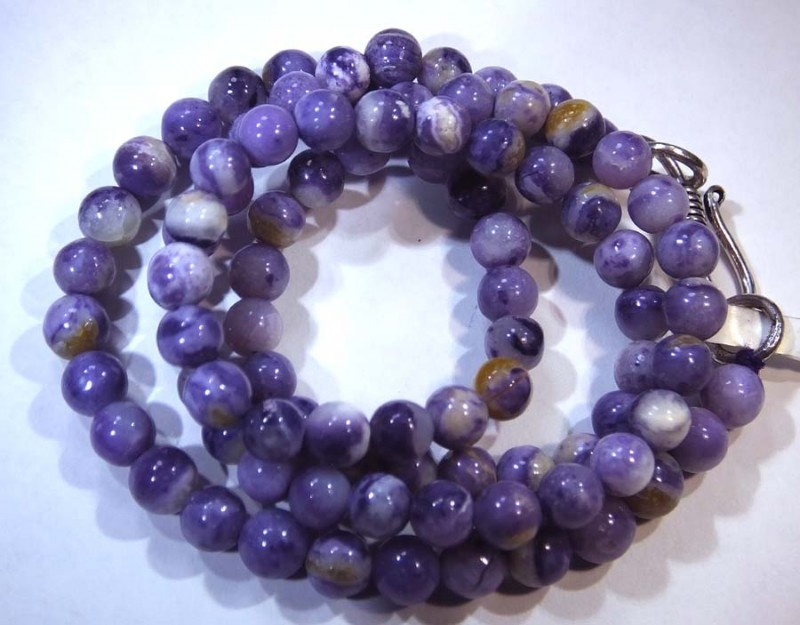 83- CTS PURPLE OPAL BEADS - FROM MEXICO