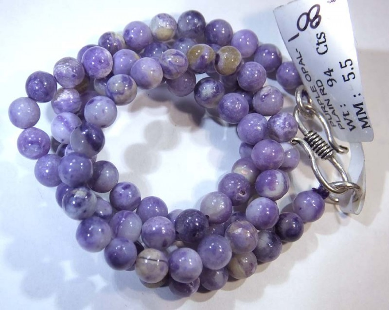 94- CTS PURPLE OPAL BEADS - FROM MEXICO