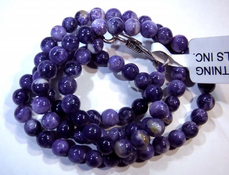 96- CTS PURPLE OPAL BEADS - FROM MEXICO