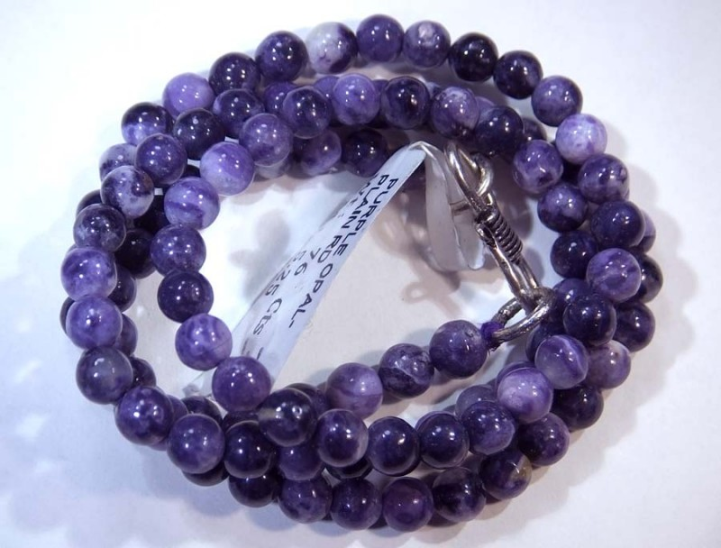 76- CTS PURPLE OPAL BEADS - FROM MEXICO