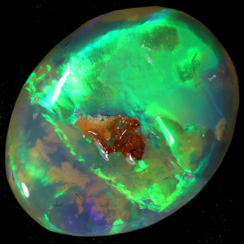 3.40 CTS CRYSTAL OPAL ROUGH FOR CARVING FROM LIGHTNING RIDGE [BR6403]