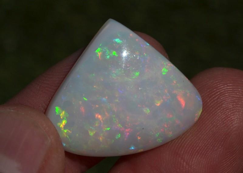 20.92 Carat Very Nice Pear Cabochon Ethiopian Opal