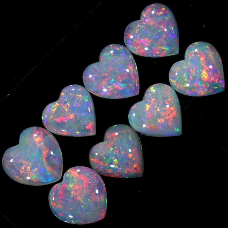 2.00 CTS CRYSTAL OPAL HEART SHAPED PARCEL CALIBRATED [C70]SAFE