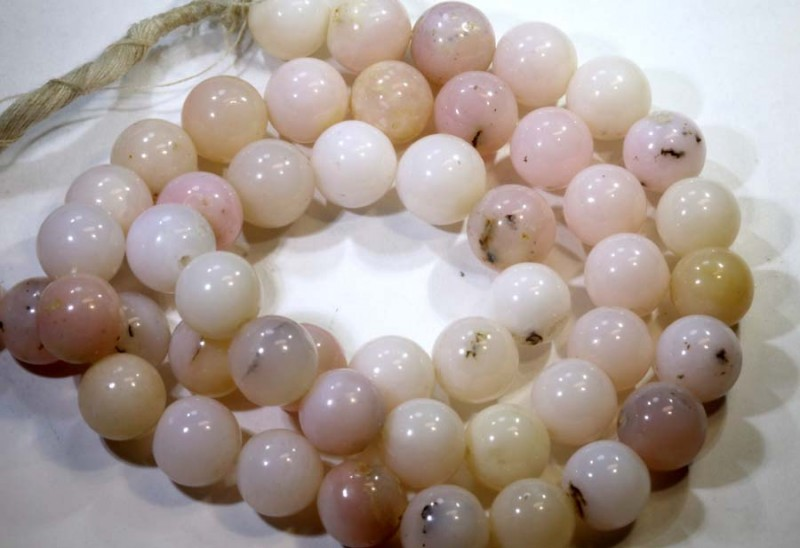 130- CTS PINK OPAL BEADS  STRAND  LO-4851