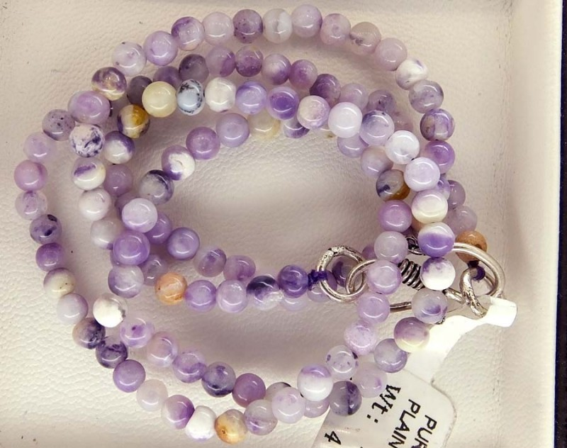 57- CTS PURPLE OPAL BEADS - FROM MEXICO