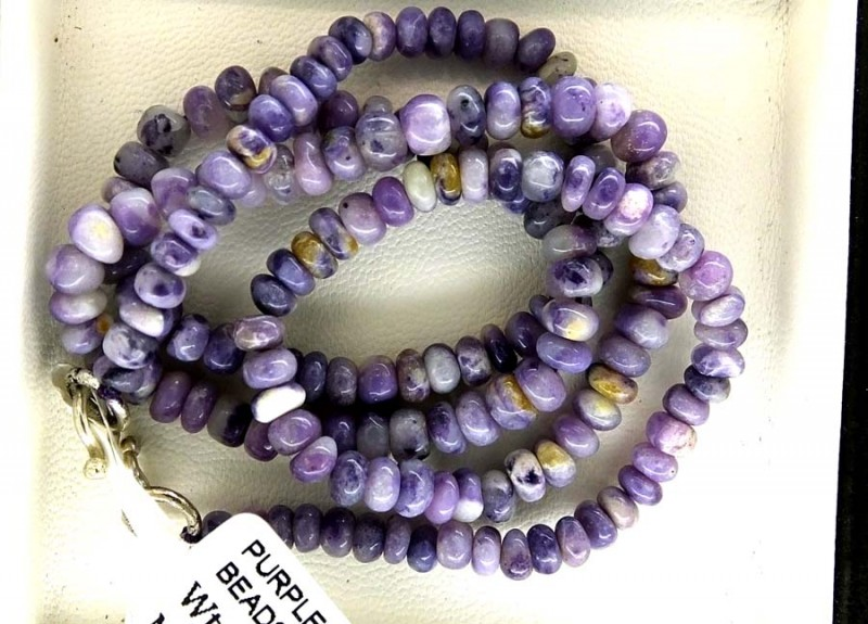 95- CTS PURPLE OPAL BEADS - FROM MEXICO