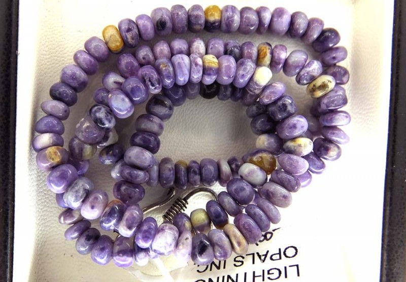 166- CTS PURPLE OPAL BEADS - FROM MEXICO