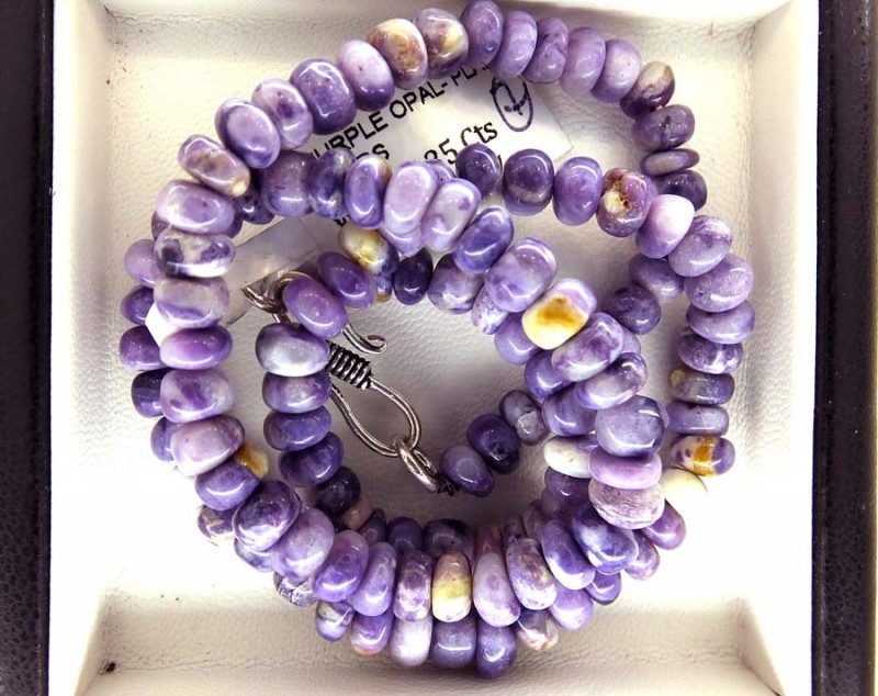 135- CTS PURPLE OPAL BEADS - FROM MEXICO