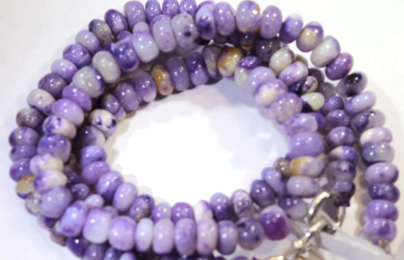70- CTS PURPLE OPAL BEADS - FROM MEXICO