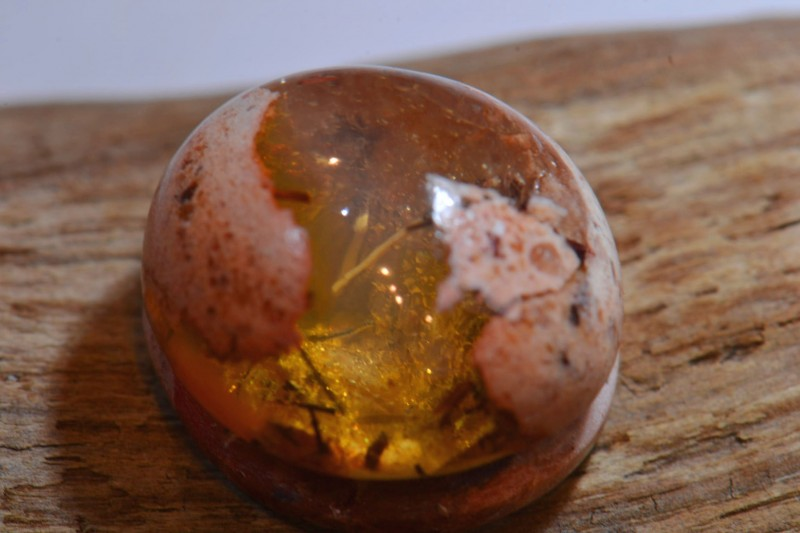 6ct Mexican Cantera Fire Opal Wire Wrap Lanscape