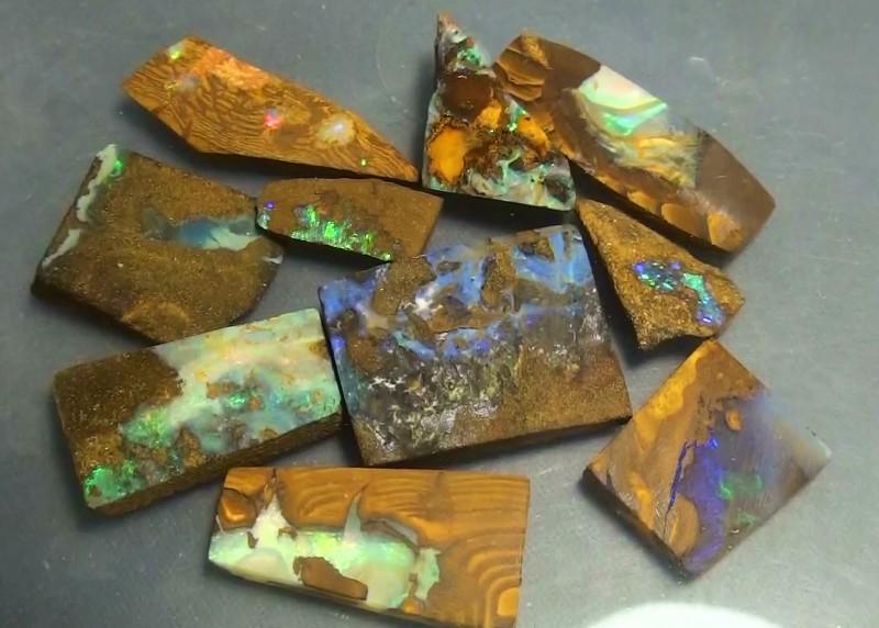 170.15 ct Boulder Opal Multi Color Rough Parcel