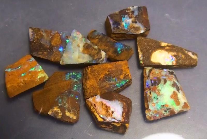 157.75 ct Boulder Opal Multi Color Rough Parcel