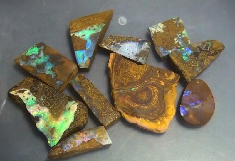 145.95 ct Boulder Opal Multi Color Rough Parcel