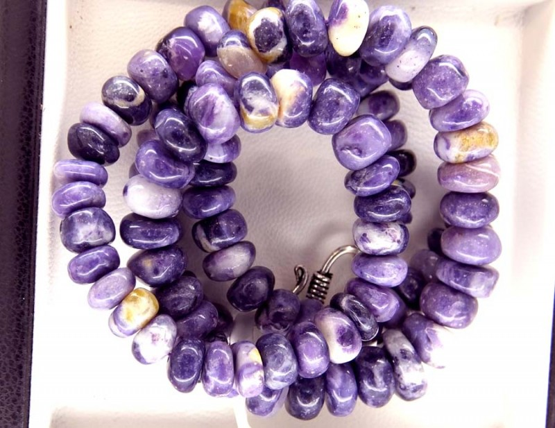 "175- CTS PURPLE OPAL BEADS - FROM MEXICO ""MORADO"" LO-4869"