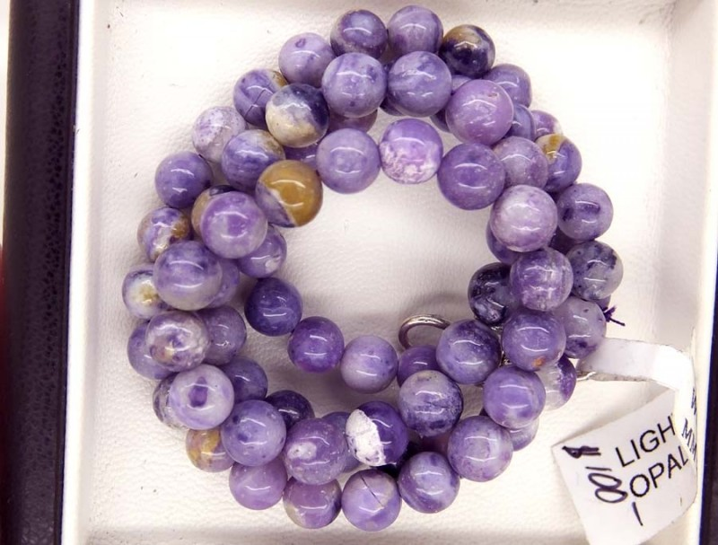 129- CTS PURPLE OPAL BEADS - FROM MEXICO