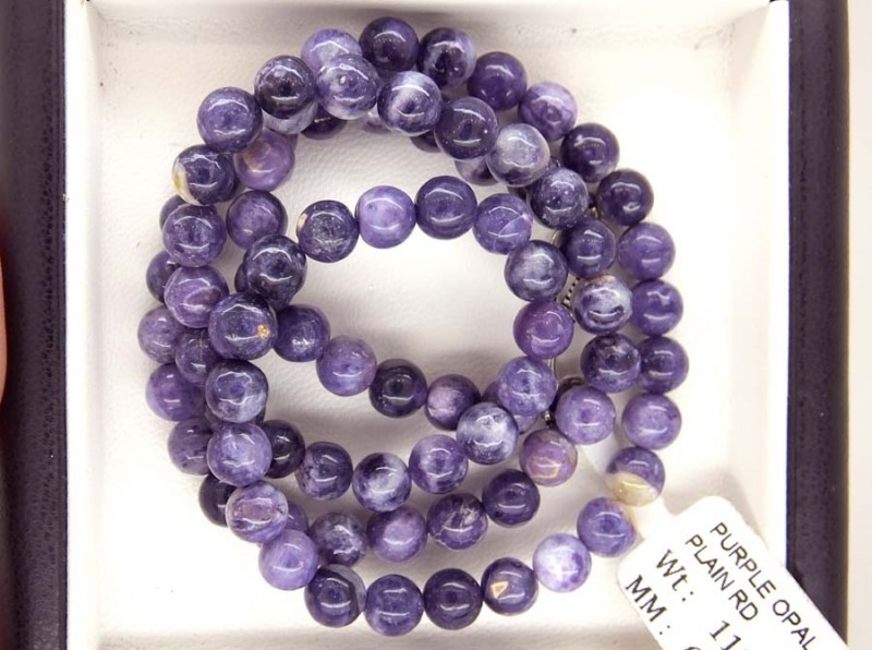 111- CTS PURPLE OPAL BEADS - FROM MEXICO