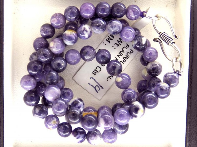 109- CTS PURPLE OPAL BEADS - FROM MEXICO