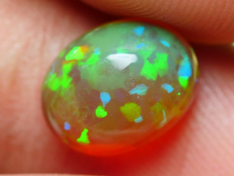 1.65 CRT GORGEOUS GAALAXI GREY RIBBON PUZZLE PLAY COLOR WELO OPAL