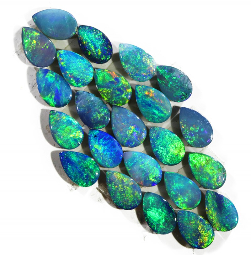 5.35CTS 23PIECES CALIBRATED OPAL DOUBLET PARCEL GREAT COLOR PLAY -S206