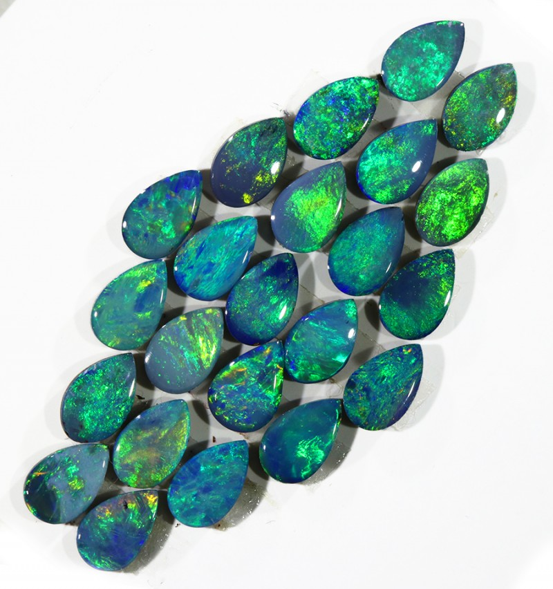 5.14CTS 23PIECES CALIBRATED OPAL DOUBLET PARCEL GREAT COLOR PLAY -S208