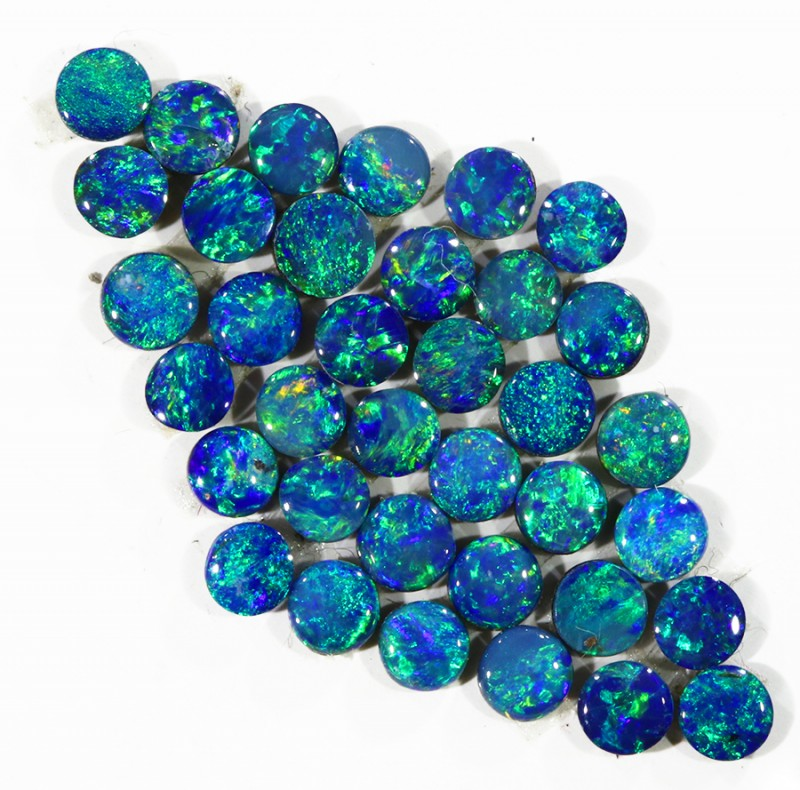 3.03CTS 36PIECES CALIBRATED OPAL DOUBLET PARCEL GREAT COLOR PLAY -S212
