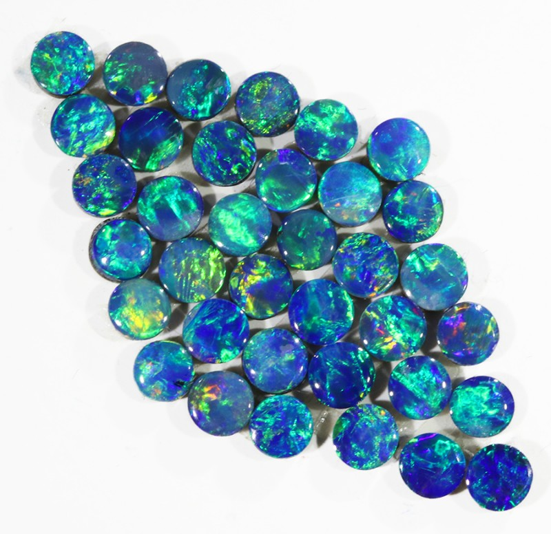3.45CTS 36PIECES CALIBRATED OPAL DOUBLET PARCEL GREAT COLOR PLAY -S218