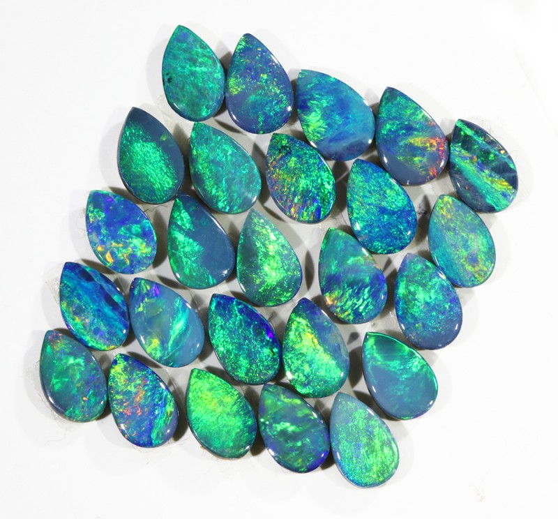 5.43CTS 25PIECES CALIBRATED OPAL DOUBLET PARCEL GREAT COLOR PLAY -S221