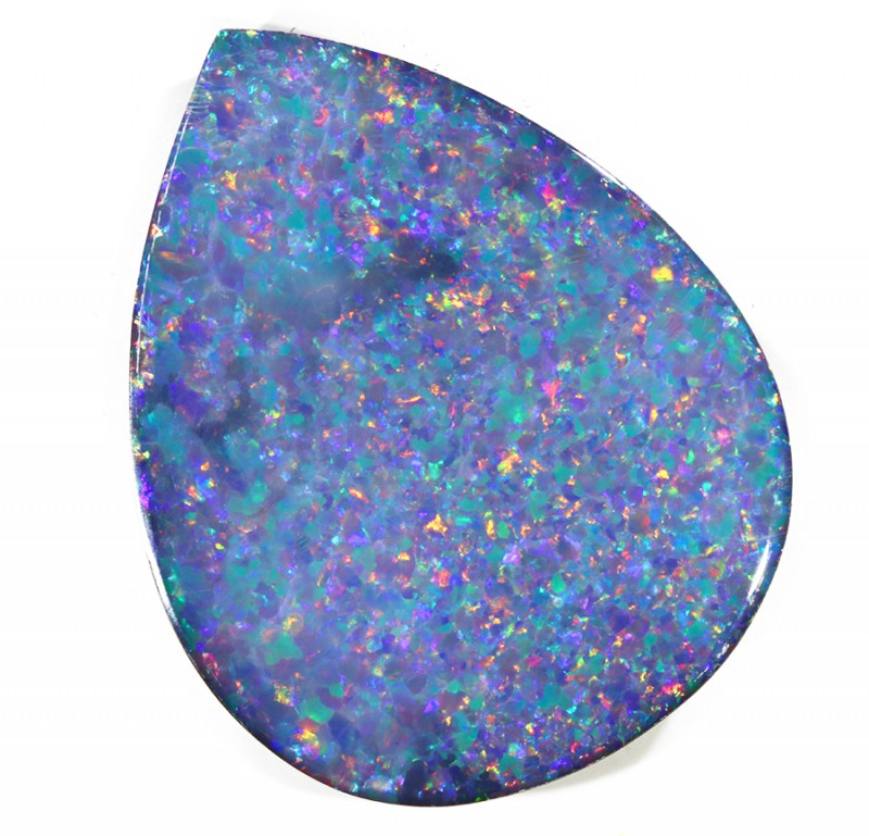 25.33CTS   OPAL DOUBLET GREAT COLOUR PLAY S245