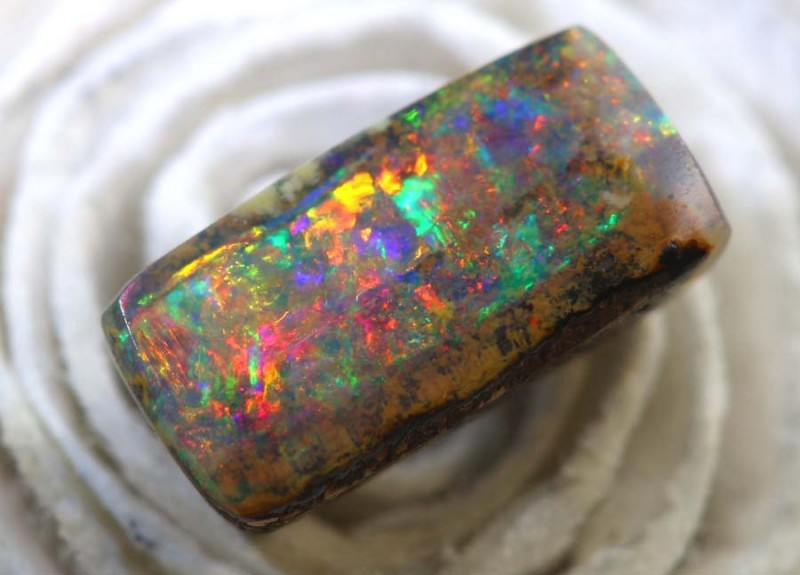 1.0CTS BOULDER PIPE OPAL POLISHED CUT STONE TBO-8386