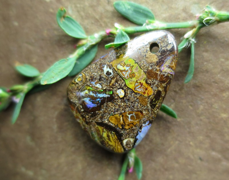 "18cts,""BOULDER MATRIX OPAL~DRILLED STONE"""
